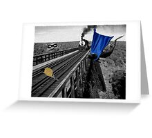 Railroad Trouble Greeting Card