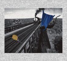 Railroad Trouble One Piece - Long Sleeve