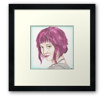 Pink Haired Ramona Framed Print