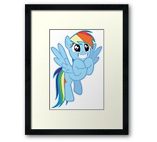 Rainbow Dash is excited Framed Print