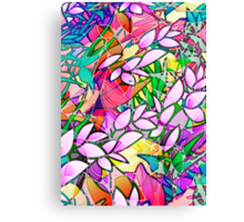 Grunge Art Floral Abstract Canvas Print