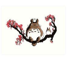 <TOTORO> Totoro On Tree Art Print