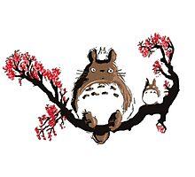 <TOTORO> Totoro On Tree Photographic Print