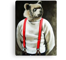 BEAR With Me - animal bear portrait anthropomorphic painting Canvas Print