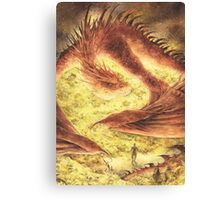 Sleeping Smaug Canvas Print
