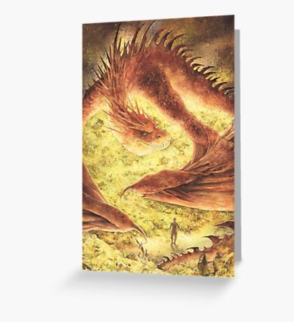 Sleeping Smaug Greeting Card