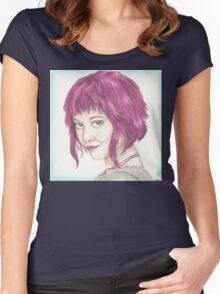 Pink Haired Ramona Women's Fitted Scoop T-Shirt