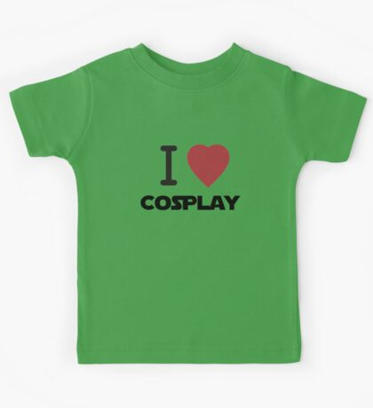 I Heart Cosplay Black Text (Clothing & Stickers) Kids Tee