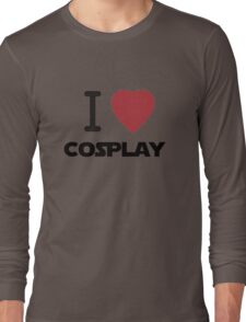 I Heart Cosplay Black Text (Clothing & Stickers) Long Sleeve T-Shirt