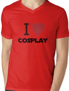 I Heart Cosplay Black Text (Clothing & Stickers) Mens V-Neck T-Shirt