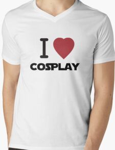 I Heart Cosplay Black Text (Clothing & Stickers) Mens V-Neck T-Shirt