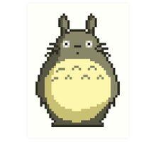 -TOTORO- Totoro Pixel Style Art Print