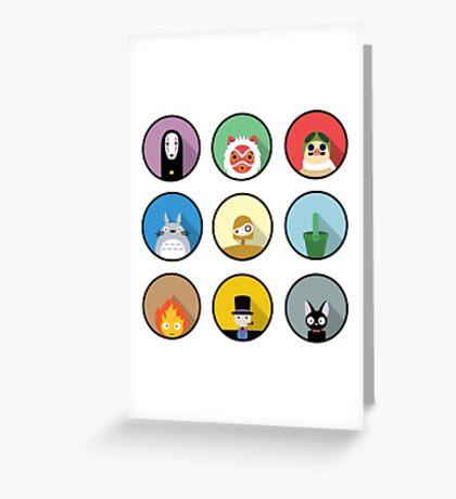 Studio Ghibli icons Greeting Card