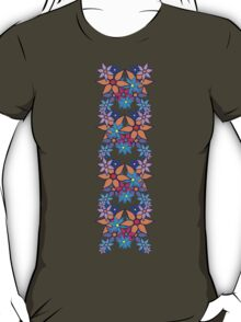 Colorful Romantic Vintage Floral Pattern T-Shirt