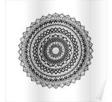 Silver Mandala Poster
