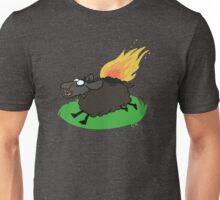 Flaming Sheep (Black) Unisex T-Shirt