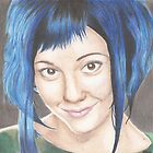 Blue Haired Ramona by Jade Jones