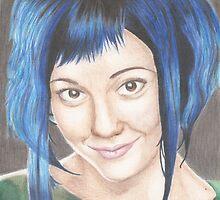 Blue Haired Ramona by Jade Jones