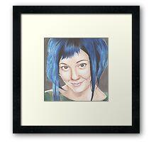 Blue Haired Ramona Framed Print