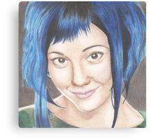 Blue Haired Ramona Canvas Print