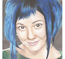 Blue Haired Ramona Photographic Print