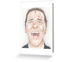 American Psycho Greeting Card
