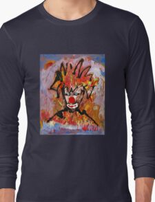 Clowning around with a landscape by Darryl Kravitz Long Sleeve T-Shirt