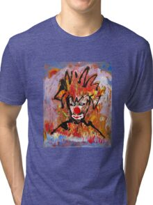 Clowning around with a landscape by Darryl Kravitz Tri-blend T-Shirt