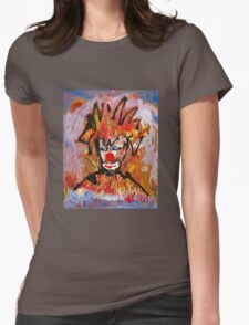 Clowning around with a landscape by Darryl Kravitz Womens Fitted T-Shirt