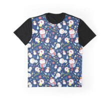 Bright Christmas pattern of snowmen Graphic T-Shirt