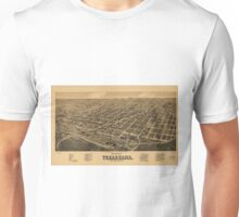 Vintage Pictorial Map of Texarkana (1888) Unisex T-Shirt