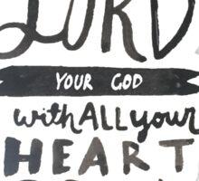 Mark 12: 30 II Sticker