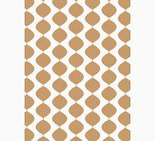 Eames Era Retro 60s Waves Pattern  (Pale Warm Brown) Unisex T-Shirt
