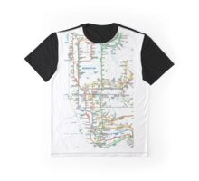 MTA-NYC-Manhattan Subway Line/Map Graphic T-Shirt