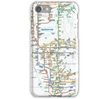 MTA-NYC-Manhattan Subway Line/Map iPhone Case/Skin