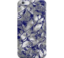 Grunge Art Silver Floral Abstract iPhone Case/Skin