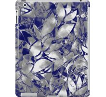Grunge Art Silver Floral Abstract iPad Case/Skin
