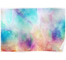 Colorful pastel tones watercolors abstract background Poster