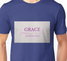 Grace Unmerited Underseved Favour Ephesians 2:8 Unisex T-Shirt