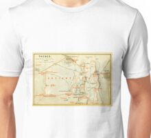 Vintage Map of Thebes Egypt (1894) Unisex T-Shirt