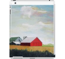 Country Farm Landscape rural Red Barn iPad Case/Skin