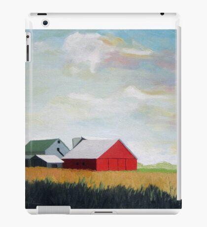 Country Farm Landscape rural Red Barn iPad Case/Skin