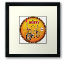 Huffy Vintage Highrise Bicycles USA Framed Print
