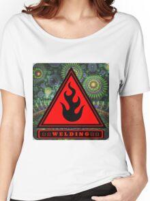 Welding Ω Button Women's Relaxed Fit T-Shirt