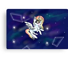 Chibi Unicorn Pouch Canvas Print