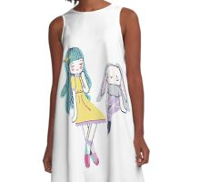 Fabric Dolls A-Line Dress