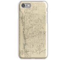 Vintage Map of Toronto Canada (1880) iPhone Case/Skin