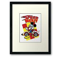 Go Speed Mickey GO! Framed Print