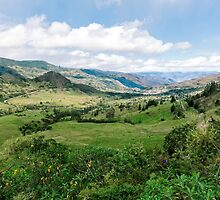 Yunguilla Valley in the Andes Mountains, Ecuador by Paul Wolf