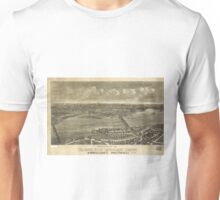 Vintage Pictorial Map of Trenton NJ (1900) Unisex T-Shirt